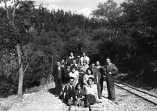 """1928г. - актьорите от филма """"Рударска среща"""""""